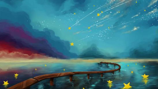 关于星星的名言:夜宿乌牙寺 举手扪星辰