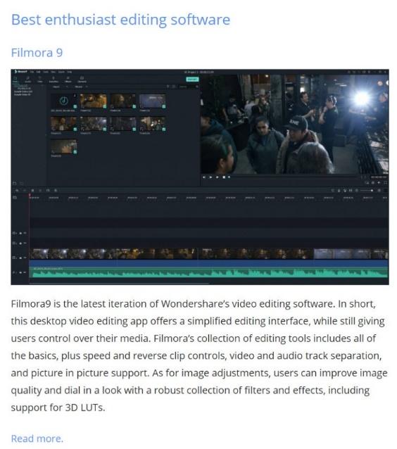 万兴科技Filmora9荣获海外专业媒体年度最佳产品大奖