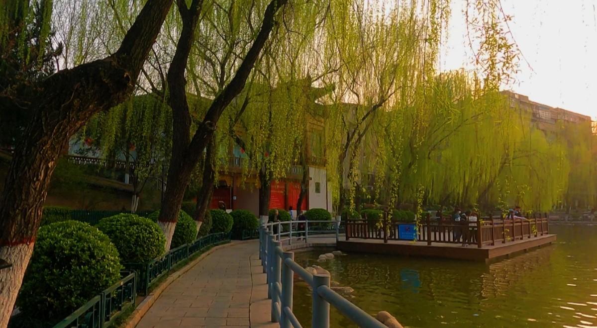 西安的公园——莲湖公园,西安最早的公园,老少咸宜