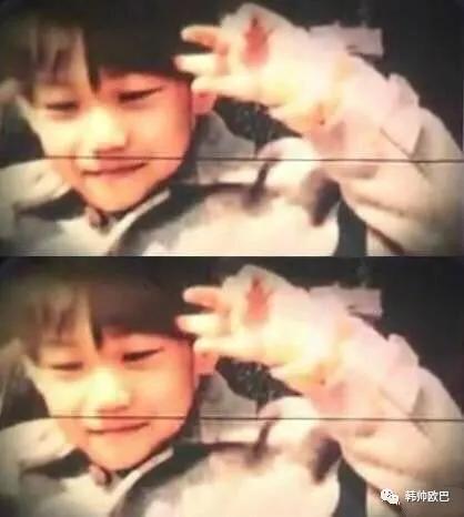 这位男团爱豆的过去照片,真的是从小小只到现在一模一样长大了