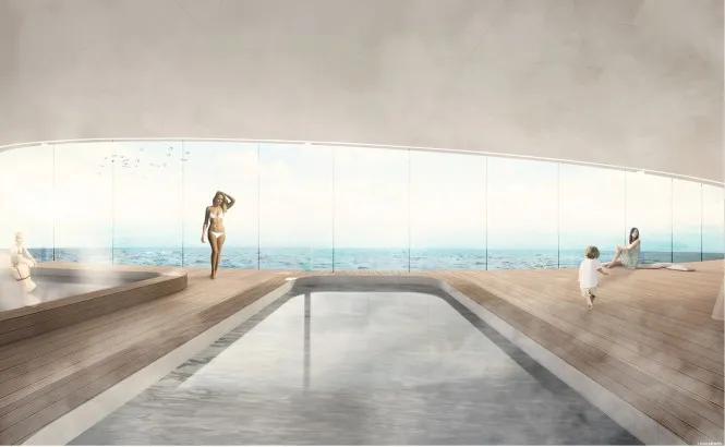 水晶超级游艇你见过吗?外观就像是海上摩天大楼