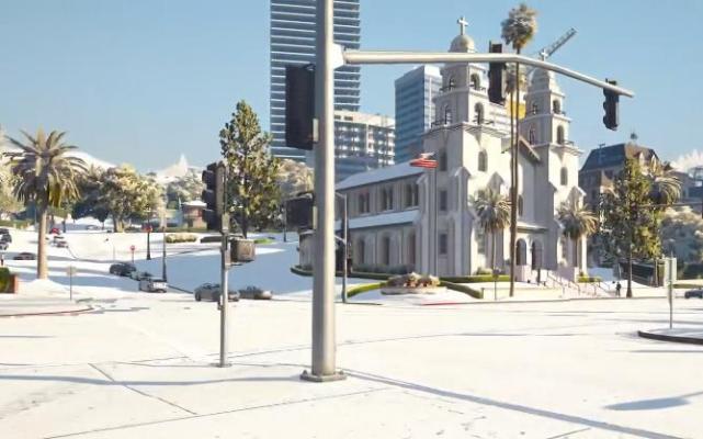 """《GTA5》将解除""""限定天气""""限制,雪天加入洛圣都随机天气"""