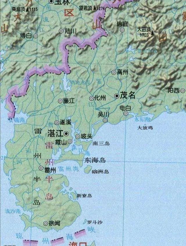 中国三大半岛在哪里?看看有没有你的家乡