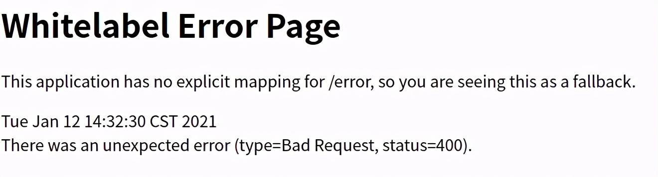springboot 项目之默认全局异常拦截