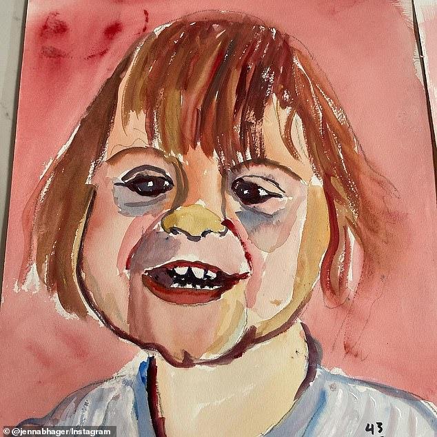 小布什修身养性改行当画家,给一岁小外孙画像,女儿詹娜赞不绝口