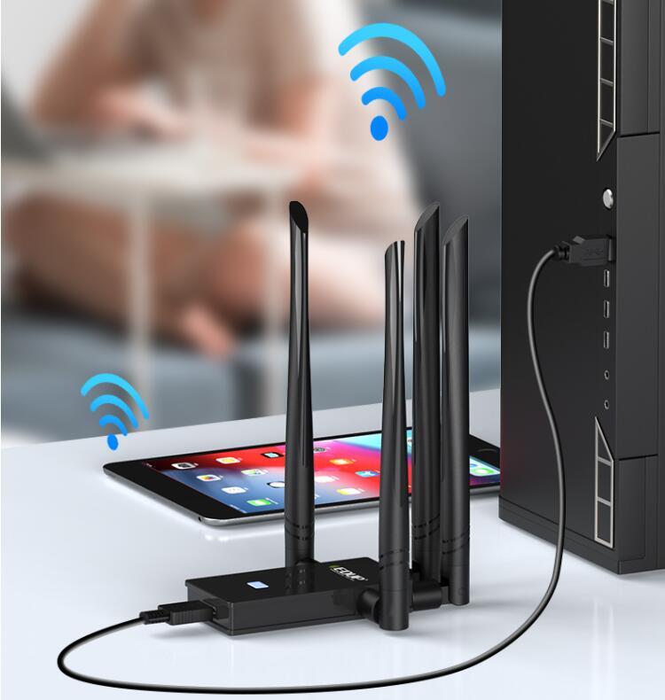 千兆网卡非选Wi-Fi6不可?翼联EDUP1622无线网卡强劲穿墙又快又稳