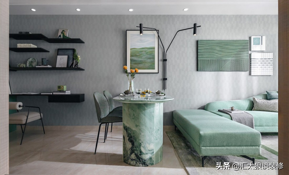 精装房不好看不要紧,家具陈设和软装配饰一换,照样漂亮又有格调