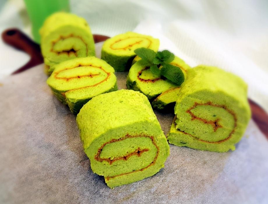 菠菜蛋糕卷的做法步骤图 蓬松暄软营养高