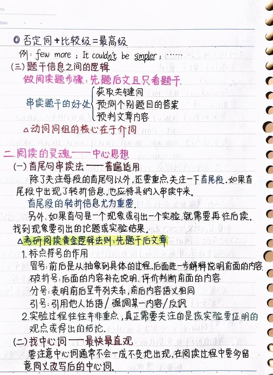 考研英语阅读笔记整理:阅读技巧干货,助你阅读正确率快速提高