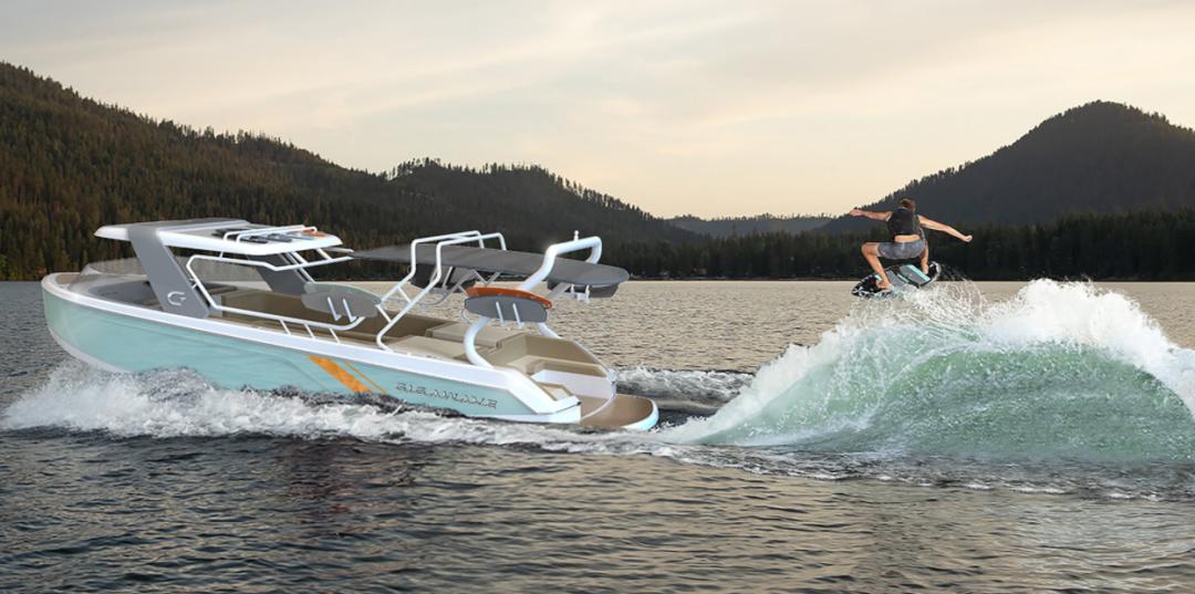 电动滑水艇GIGAWAVE 350 GW-X,唤醒强悍的尾波