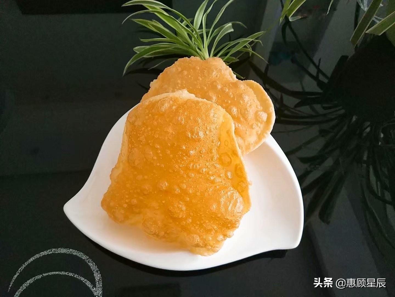 做泡泡饼的秘诀全在这,一看就会,个个金黄酥脆鼓大泡,还能夹菜
