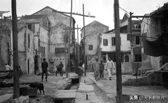 1920年代的汕头老照片 百年前的海神庙第一津街风貌
