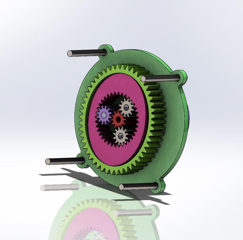 Grundfos Challenge循环阀齿轮箱3D数模图纸 STEP格式