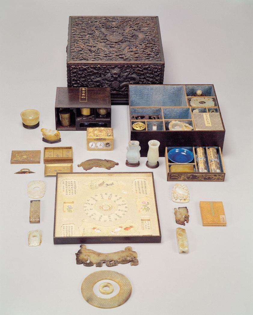 解放时期被带去台湾的美玉珍宝(台北故宫博物院)