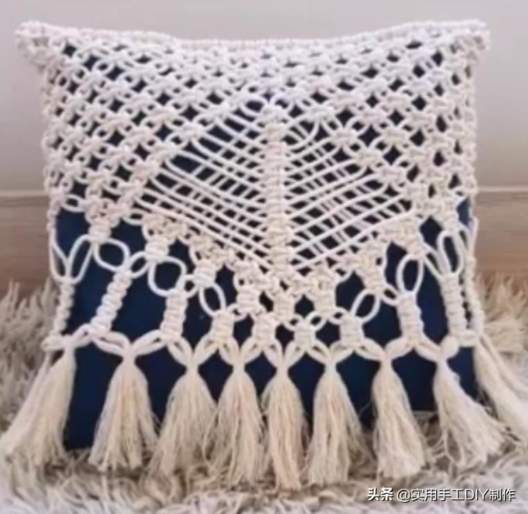「编绳作品」33款永不过时的绳编抱枕,个个堪称经典