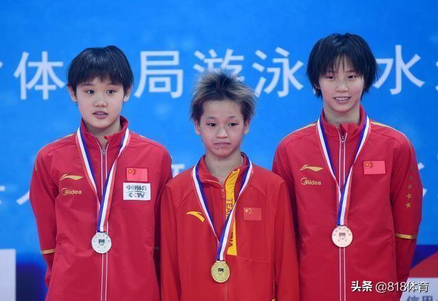 跳水三小只全运会证件照可爱!全红婵不笑显霸气,张家齐幼儿园萌娃
