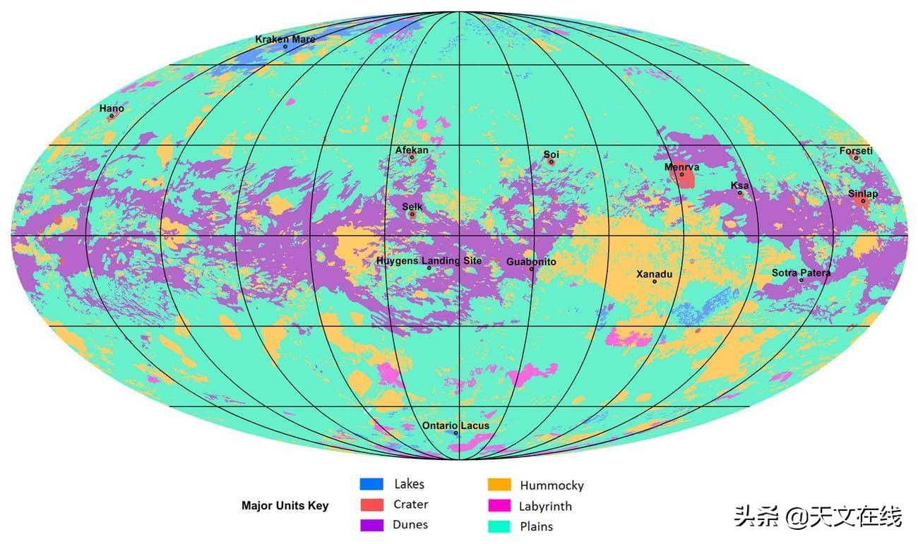 惊人一瞥!科学家首次发现土卫六上的惊人地形