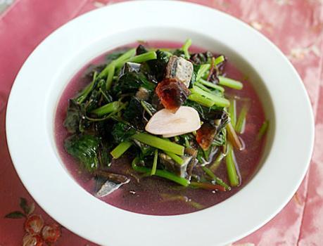 上汤苋菜的做法步骤图 7月苋菜金不换用来做汤喝比肉汤还抢手