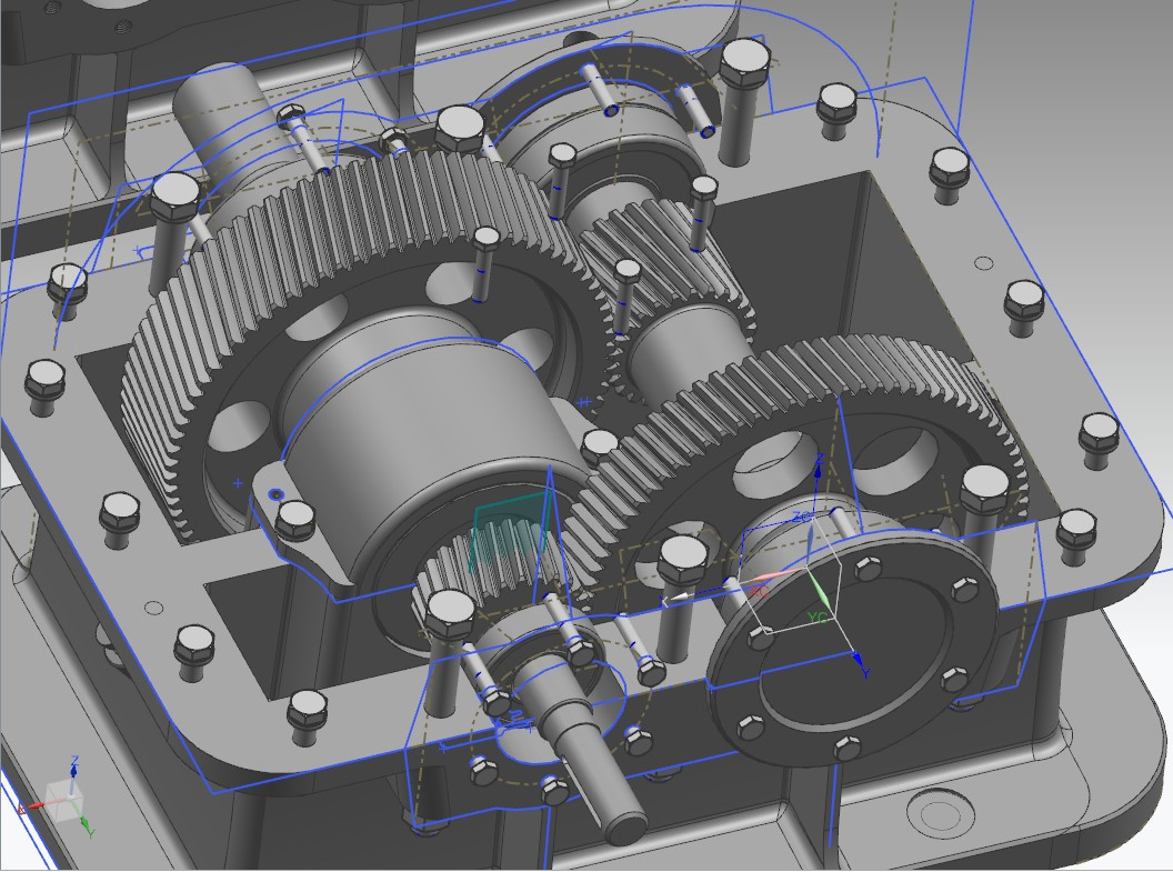 Coaxial齿轮箱模型3D图纸 UG设计