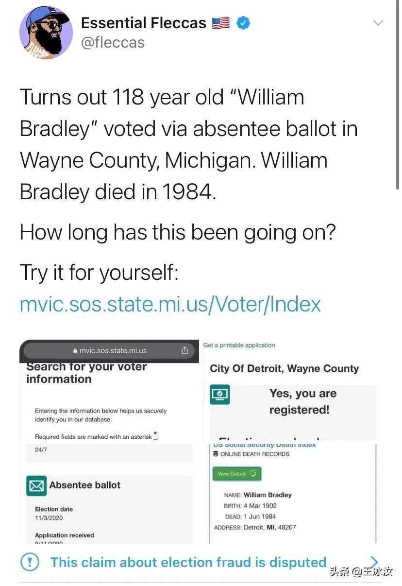 """死者也能投票?""""幽灵票""""的真相,""""选举欺诈""""并非特朗普说了算"""