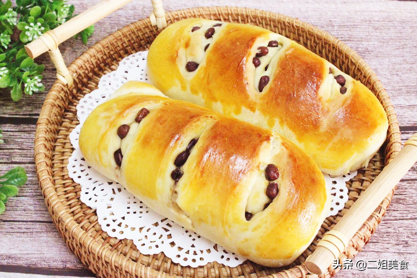 红豆面包不用买,自己在家做,无添加还香甜,蓬松软乎太好吃了
