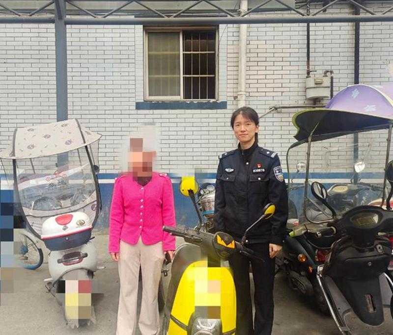四川江油:民警及时破案,为群众找回被盗电瓶车