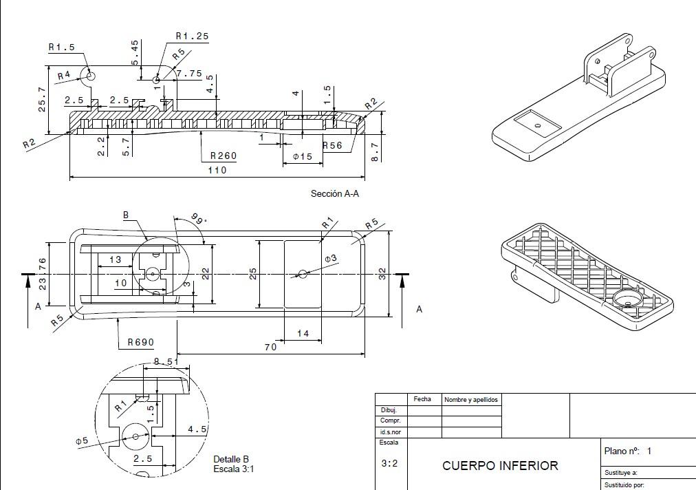 planos订书机3D数模图纸 STP格式 附工程图