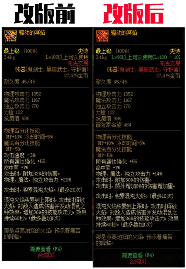 DNF:鬼剑士100级史诗武器改版,军神毕业下最强武器分析