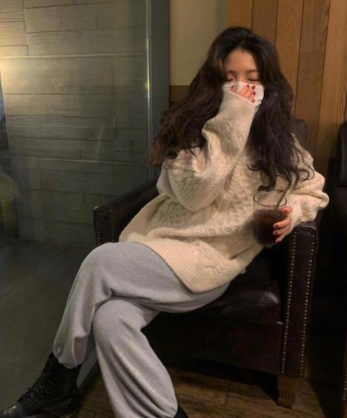 INS韩国时尚博主衣品超好 随意舒适的冬季参考范本