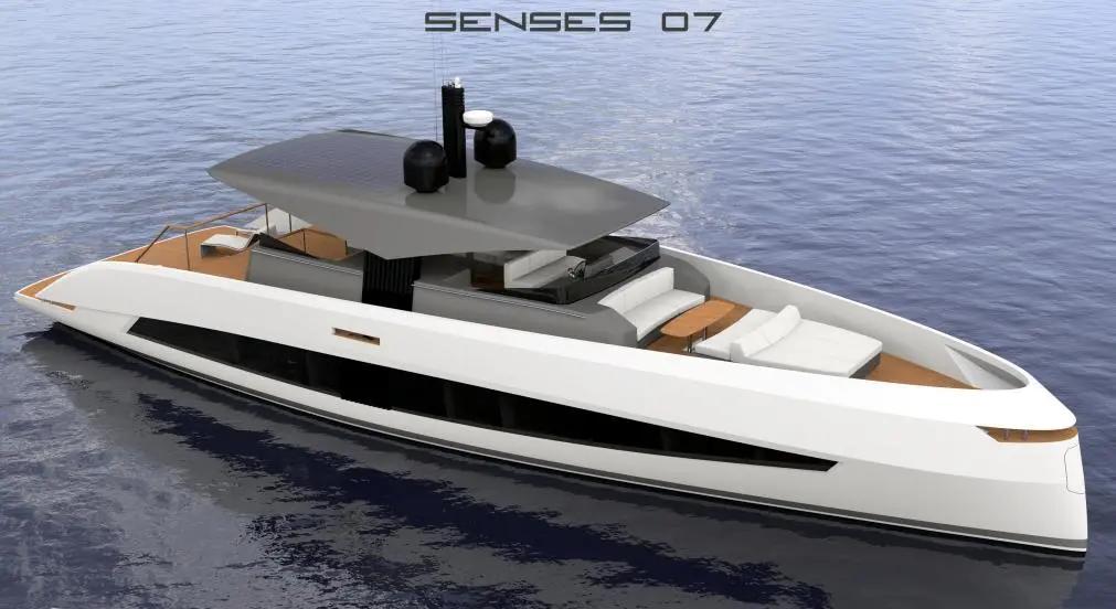 如何将帆船的外观设计应用到动力艇当中?来看看这艘21米的游艇