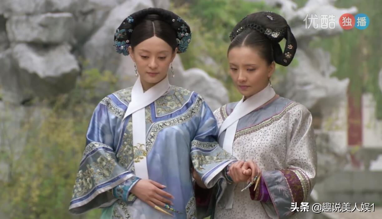 甄嬛传中难得三位嫔妃旗头全副点翠,如懿传里的点翠却人人都有份