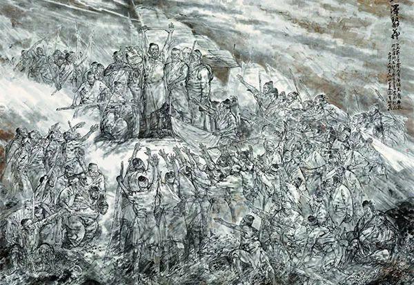 """水墨人物画在主题性美术创作中的""""南北兼容"""""""