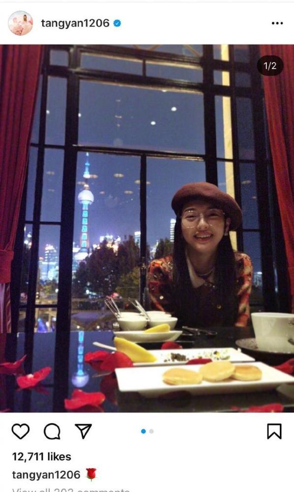 唐嫣罗晋低调庆祝结婚两周年,共进烛光晚餐,太甜了