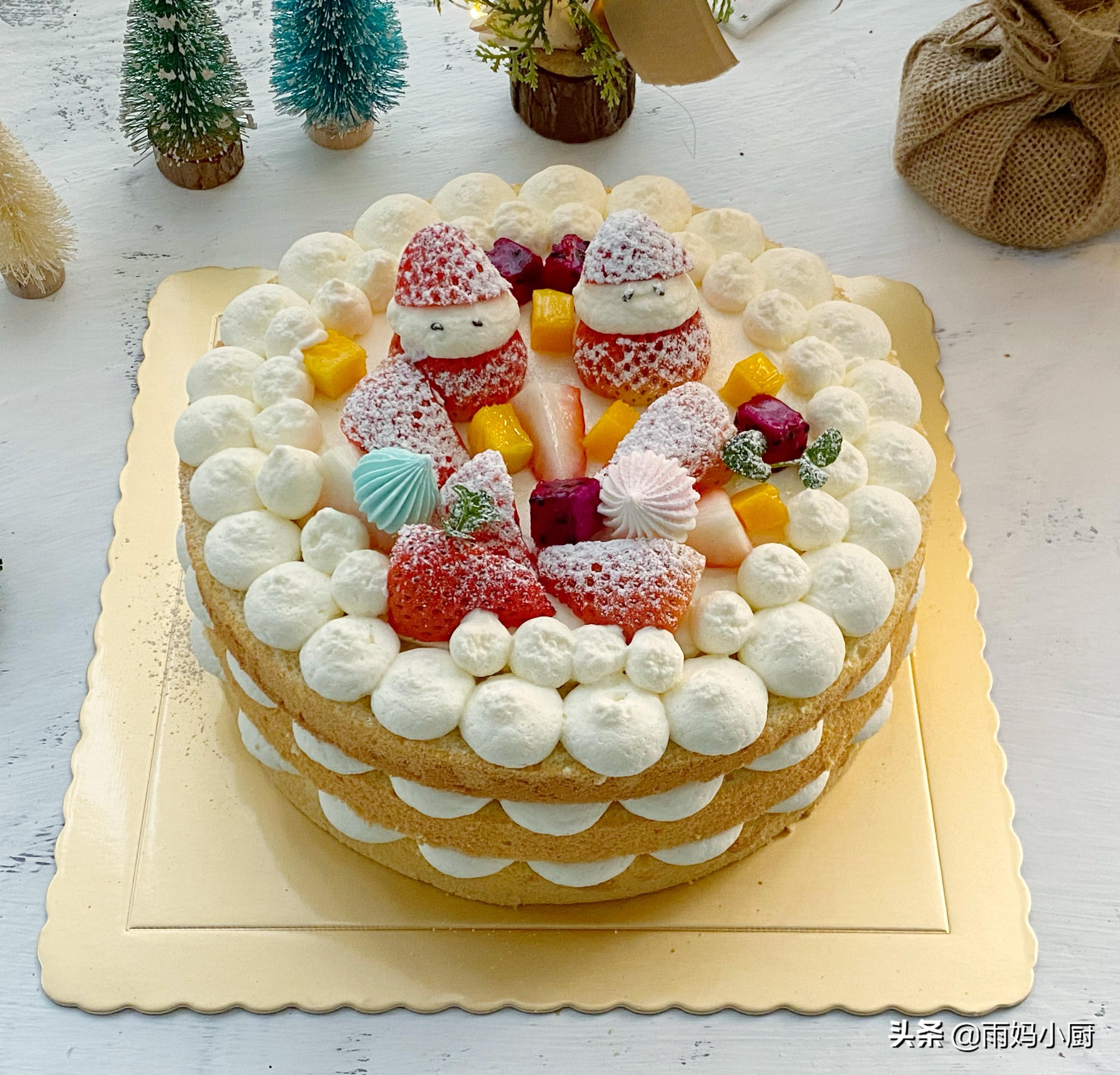 手把手教你高颜值,新年草莓裸蛋糕,无需抹面新手也能做得漂亮