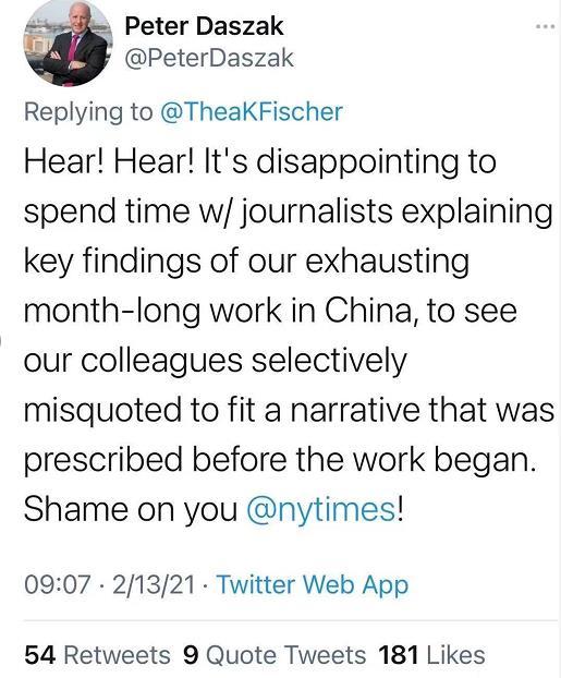 新冠真相即将发布,美国狗急跳墙对中国使绊子,世卫专家怒斥无耻
