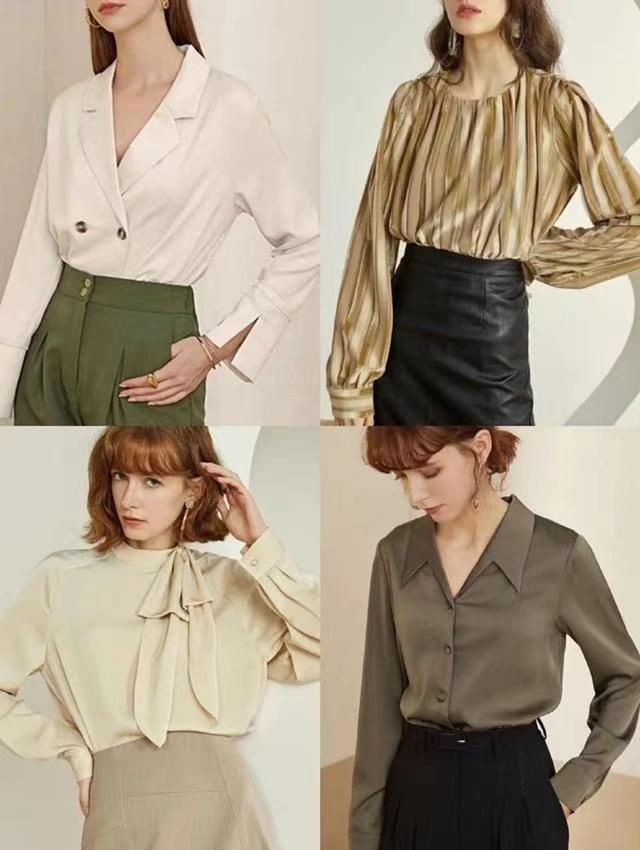 """白衬衫不吃香了,今年流行的是""""法式衬衫"""",优雅精致很有女人味"""