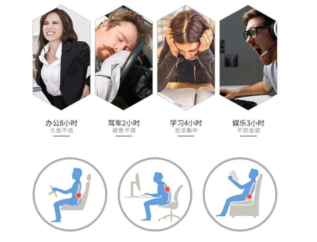 稳座腰椎按摩圈C位,15分钟缓减腰椎不适,宾多康腰椎按摩仪
