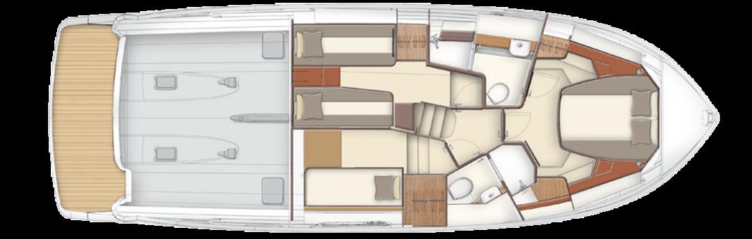 """AZIMUT阿兹慕麦哲伦43远航游艇,空间创造""""意""""享生活"""