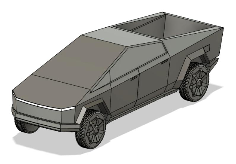 Tesla Cybertruck特斯拉电动皮卡模型3D图纸 STEP格式