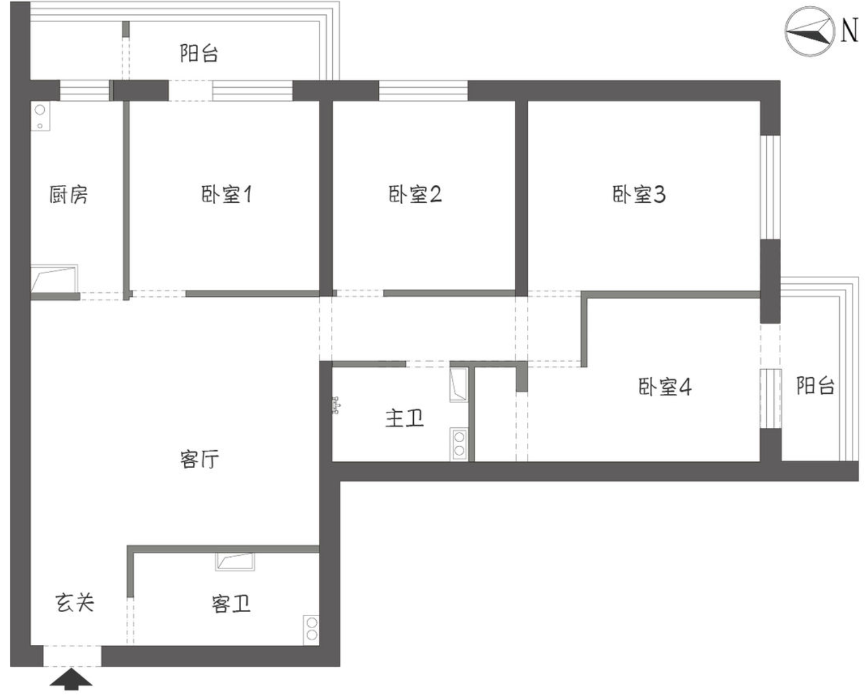 参观北京夫妇的婚房,与想象中差别很大,虽复古但很干净