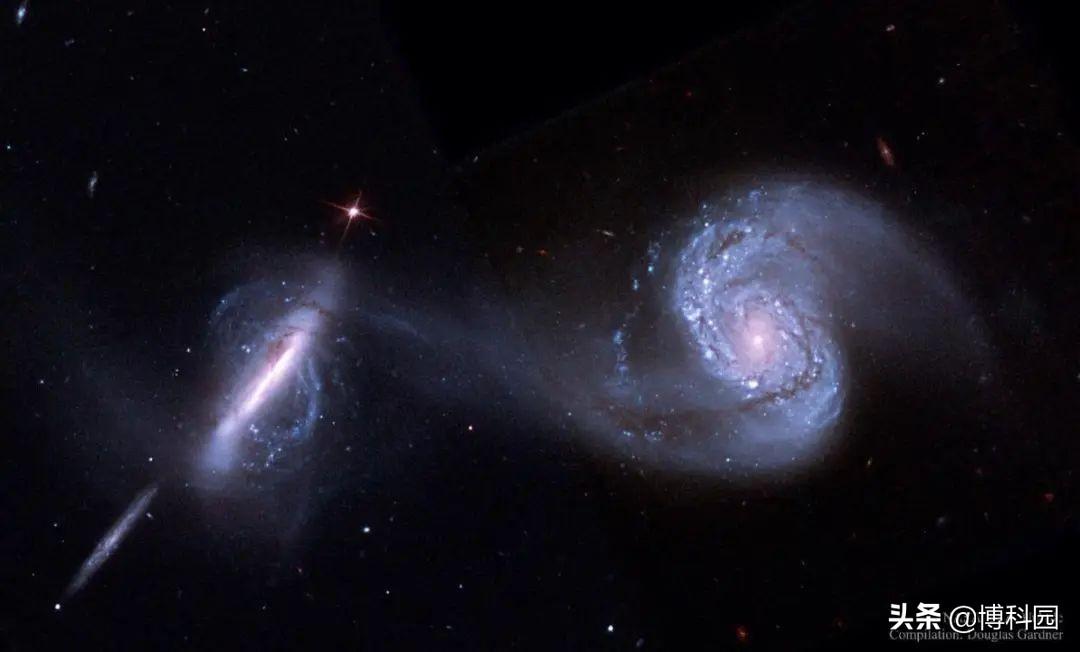 星系间的碰撞合并,会触发核心活动,发出绵延数千光年的喷流