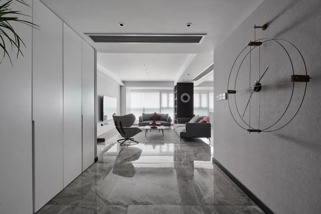178㎡现代简约,买两套房子,合并到一起,时尚高级,静雅端庄