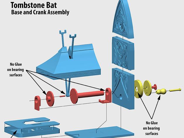 Tombstone Bat飞行蝙蝠拼装模型3D打印图纸 STL格式