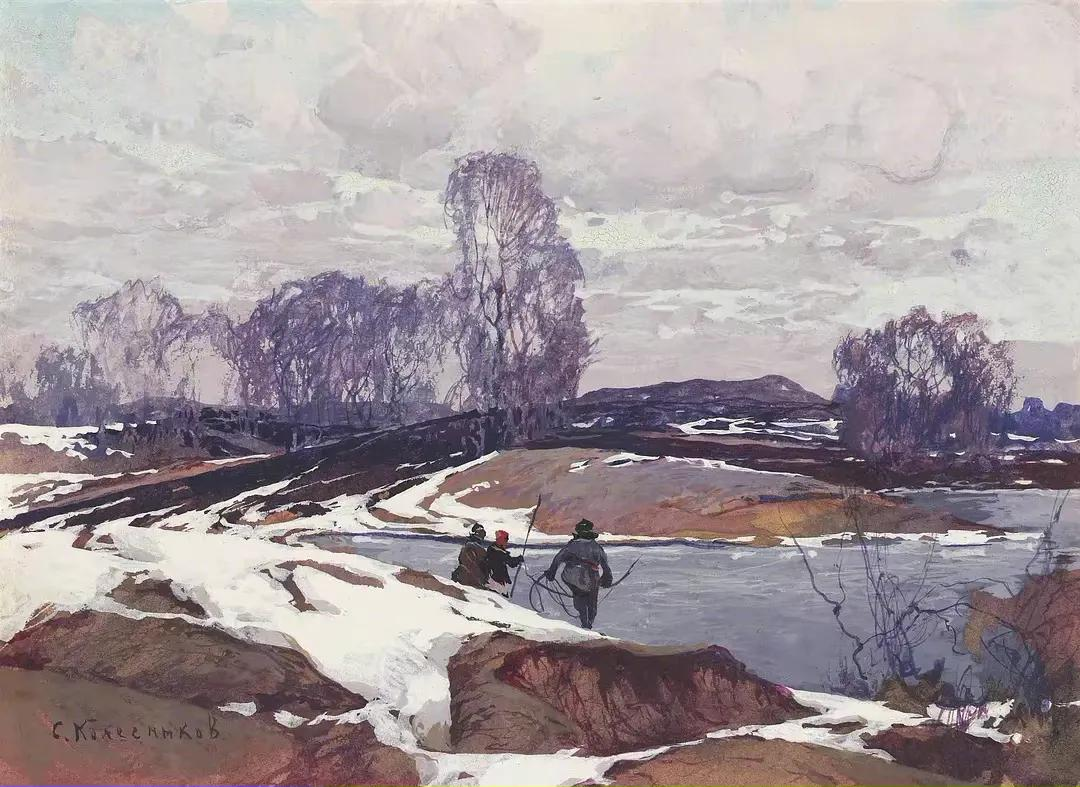 俄国时期油画-童话中的雪