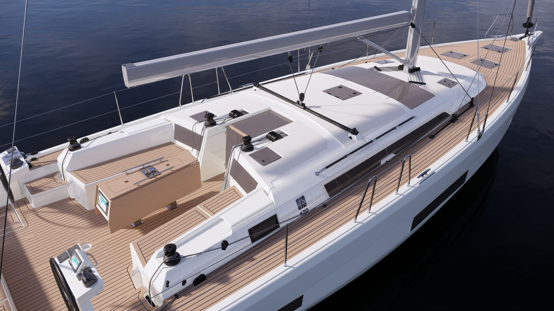 近15米长,可配置5个房间,法国丹枫Dufour 470帆船