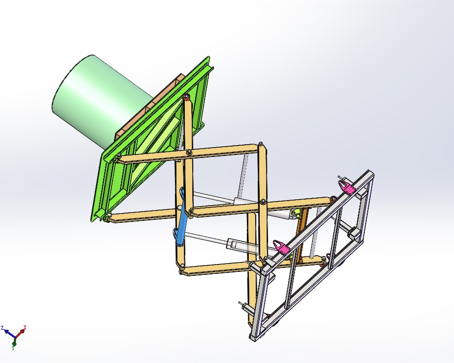 剪刀臂升降机3D数模图纸 Solidworks设计