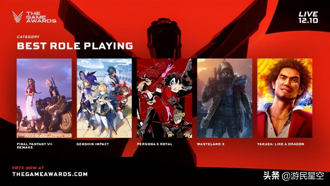 TGA年度游戏候选提名公布 六款游戏角逐年度最佳