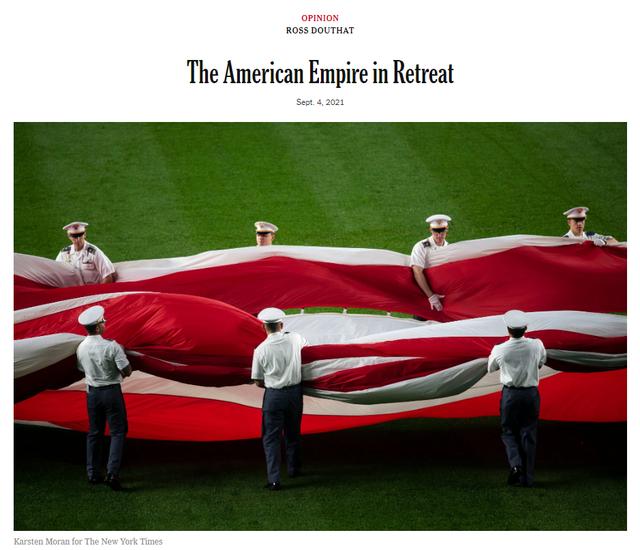 战略失误?纽时:中国已成美国真正对手,美利坚帝国加速衰落