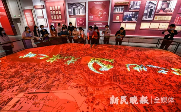 """3万个模型,44处红色遗址遗迹!揭秘一大纪念馆""""光荣之城""""大沙盘"""
