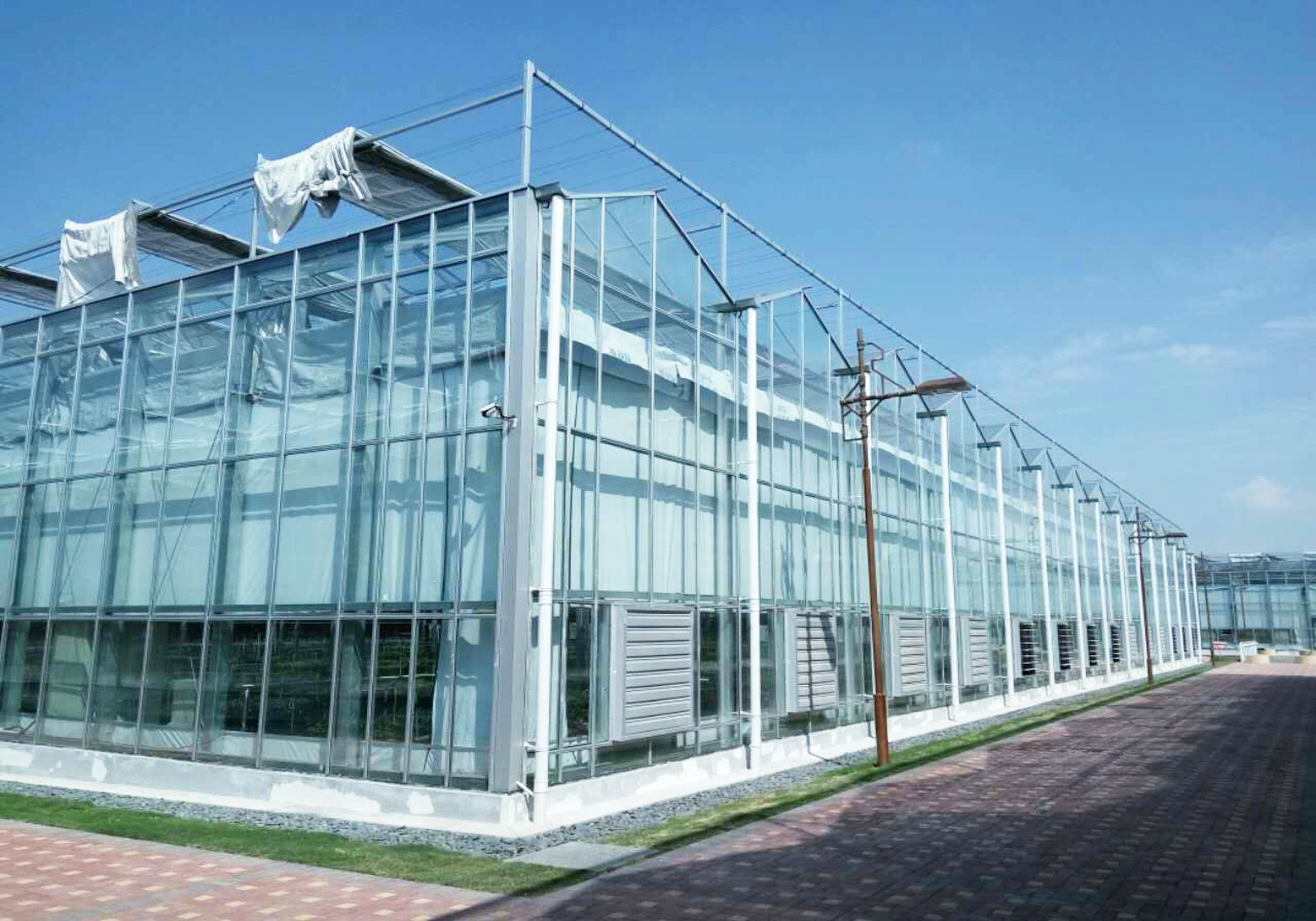 智能连栋温室大棚四周卷膜增强保温的方法